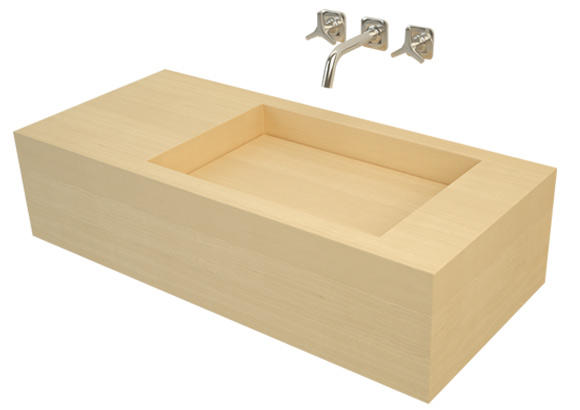 Image of Rimba wooden washbasin