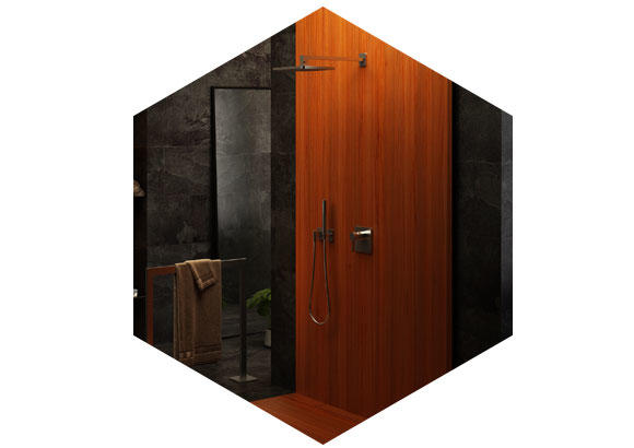 Picture of Bathroom walls wooden surfaces