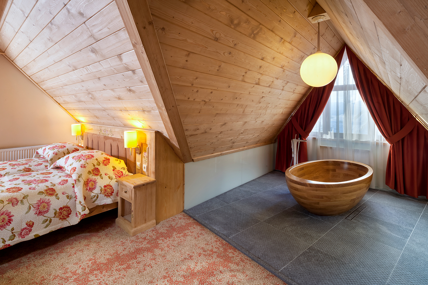 Image no. 4 of Wooden bathtub Baula in Oak  - Bania hotel