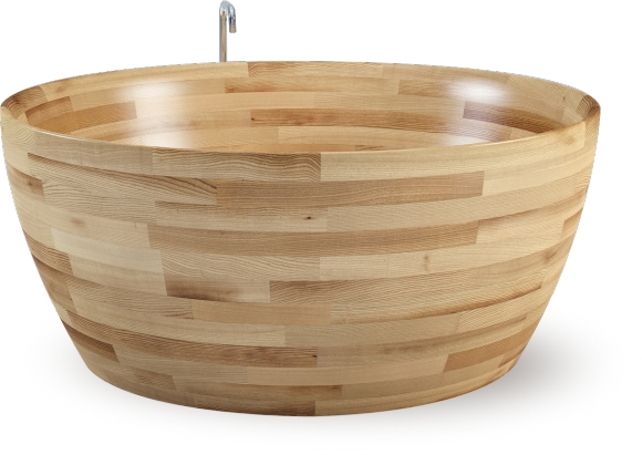 Wooden bathtub made by Unique Wood Design